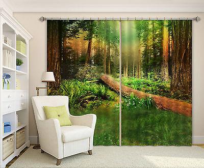 3d Dichter Wald 541 Blockade Foto Vorhang Druckvorhang Vorhänge Stoff Fenster De StäRkung Von Sehnen Und Knochen