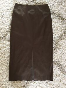 seta frontale laterale Skirt cerniera Stretch Nwt marrone New Talbots spacco in misto 10 Taglia tOxwpgnPSq