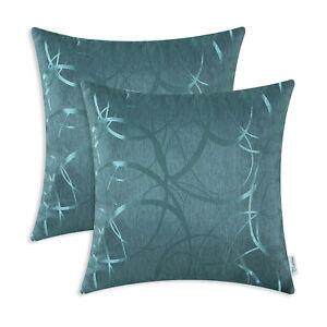 "2Pcs Grey Cushion Covers Bolster Pillow Case Circles Rings Geometric Sofa 12x20/"""