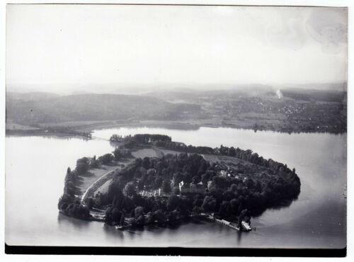 Bodensee INSEL MAINAU * Strähle Luftbild um 1955 * 13 x 18 cm
