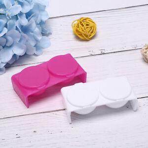 1 Pz Nail Art Doppia Coppa Ciotola Dappen Dish Plastic Rose White Manicure ToolC
