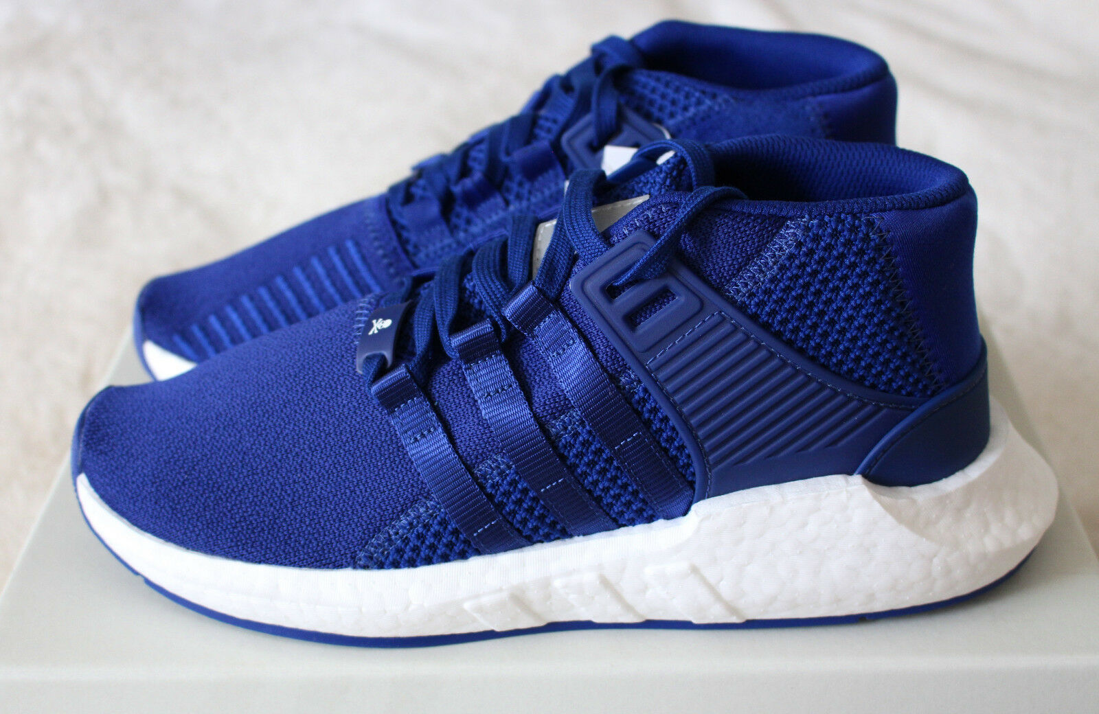 New Adidas MasterMind World EQT Support Mid 93/17 Blue Ink Skull US 8.5