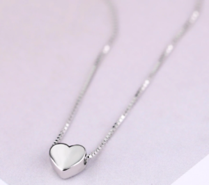 New Arrivals 925 Sterling Silver Love Heart Necklaces for Women Hallmarked S925