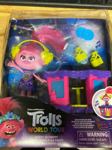 Damaged BOX - Trolls DreamWorks World Tour Party DJ Poppy Fashion Doll