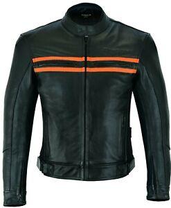Giacca-moto-Naked-Custom-Pelle-Vintage-Moto-Harley-Viaggio-Protezioni-BIESSE-CE