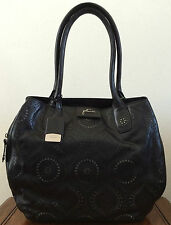 Petunia Pickle Bottom Handbags Black Leather Transatlantic Tote Purse Obsidian