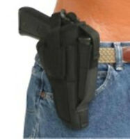 Black Tac Side Gun Holster With Magazine Pouch Fits Taurus Pt-58 With Laser