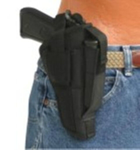 Black Tac Side Gun Holster with magazine pouch fits Taurus TCP 738 (.380 CAL)