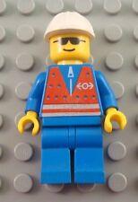 LEGO City Town Train Employee Worker Minifigure