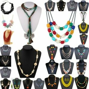 Charm-Women-Pendant-Crystal-Choker-Chunky-Statement-Chain-Bib-Necklace-Jewelry