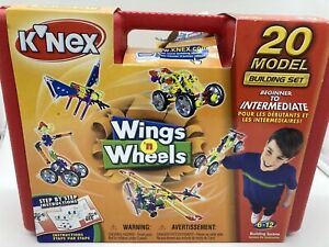 Vintage K'NEX Wings and Wheels 20 Models 252 Pieces  Building Set #12034/48338