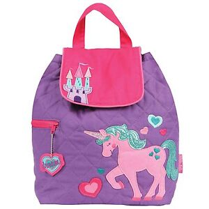 preschool book bags stephen joseph quilted unicorn backpack toddler 258