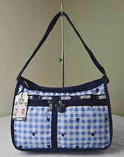 LeSportsac Disney Minnie Checks and Bows 7507 Deluxe Everyday Shoulder Hobo