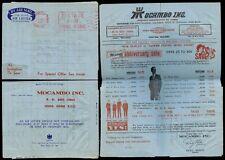 HONG KONG 1969 AIR LETTER POST PAID MACHINE METER to USA...MOCAMBO