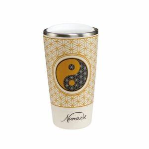 Goebel-To-Go-Becher-Yin-Yang-Namaste-Kaffeebecher-Teebecher-Bambus-0-5L-Goebel