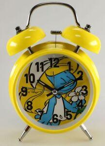 Horlogerie Schtroumpfs (les) Réveil, Schtroumpfette Retro Lumineux Jaune Kmb Remise GéNéRale Sur La Vente 50-70%
