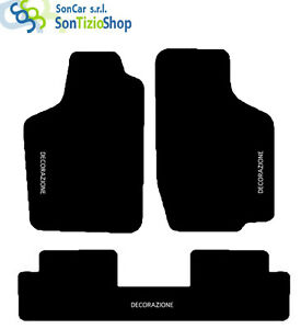 Teppiche-OPEL-Corsa-ein-82-93-massgeschniedert-Stickerei-GT-weiss-4-Block