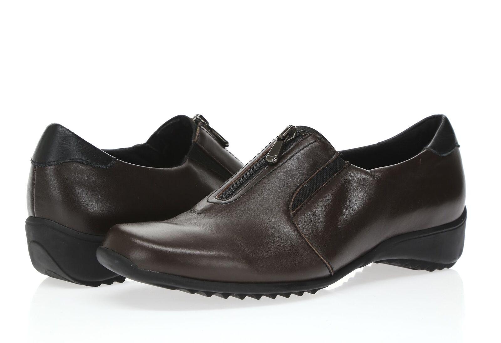Donna MUNRO 6 Berkley Dark Brown Pelle Loafers Shoes Sz. 6 MUNRO M 1de3fe