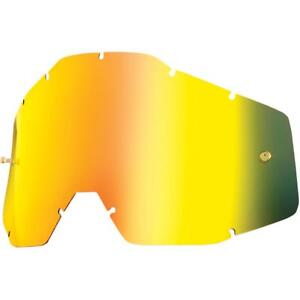 Ripnroll silver mirror tear off replacement lens for Fox main//pro bike goggles