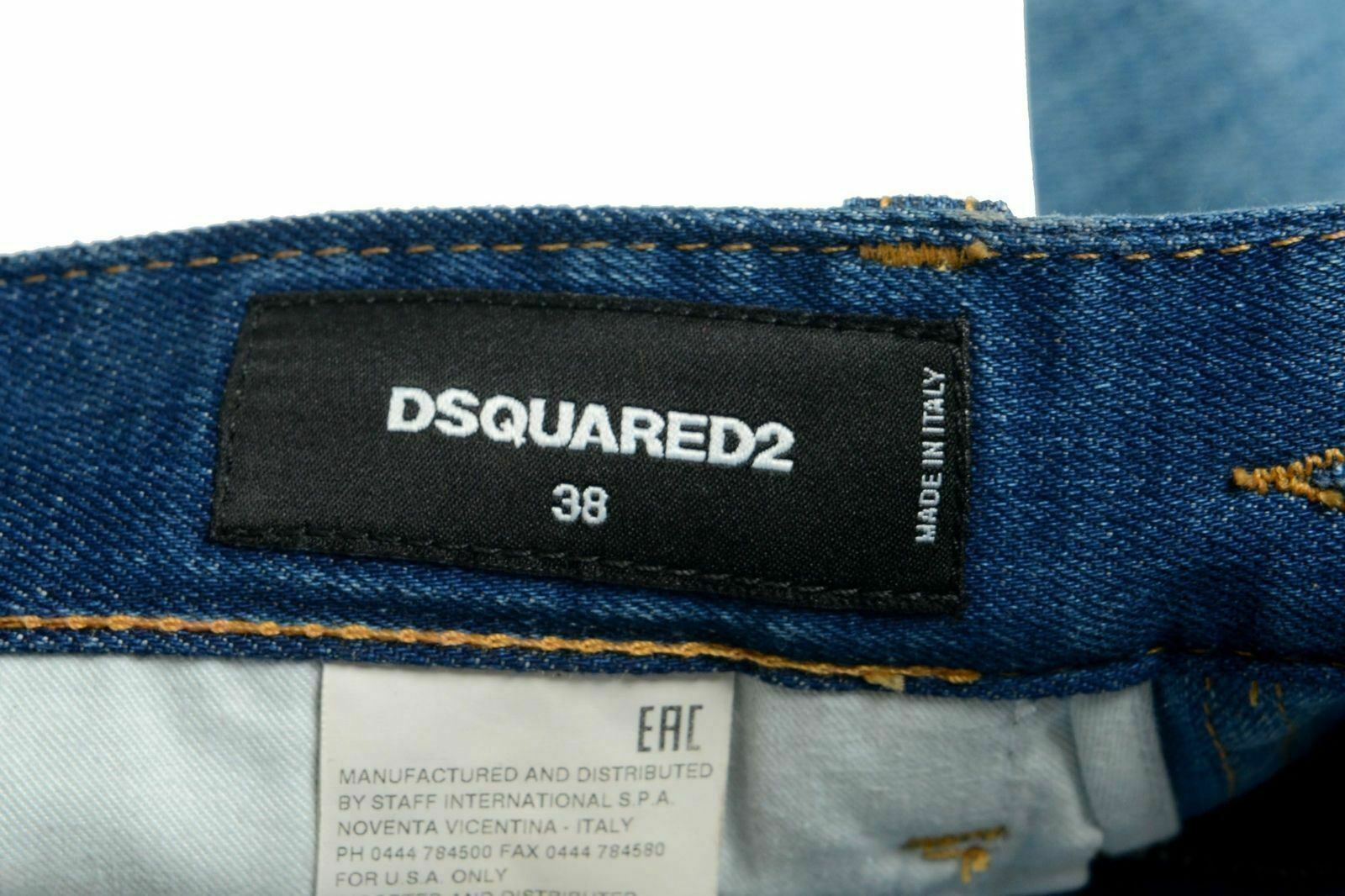 Dsquared2 Multicolore Jeans Jeans Jeans Vita Alta Donna Gonna a Tubino USA XS It 38 c765a0