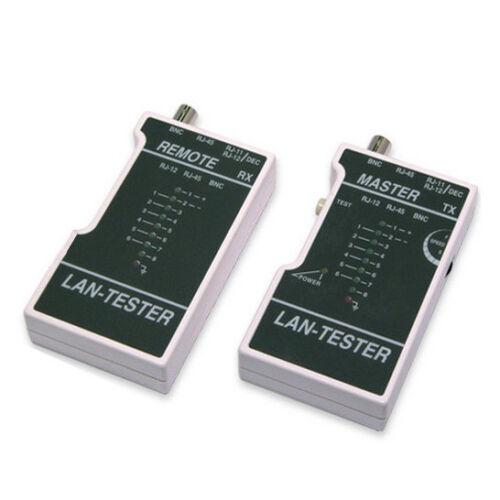 Pro Network LAN Ethernet Cable Continuity Tester Tool CAT5e//6 RJ45//RJ12//RJ11 New