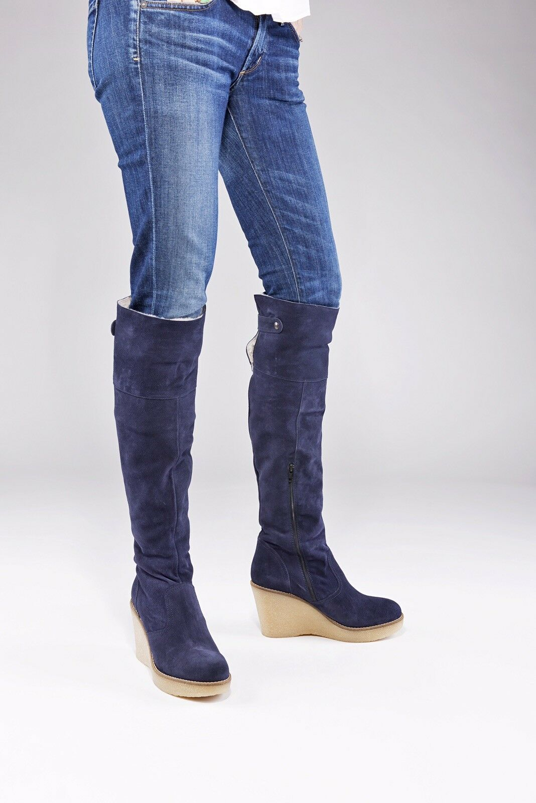 Narrow calf shearling boots by Skinnycalf Boots