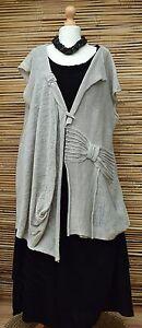 Zuza xxl gris Bart veste main design belle en L lin à xl la tricoté OOrAqnUwx