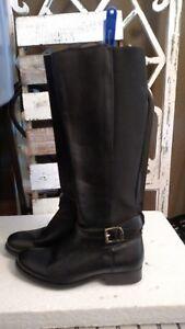 c77cbff9cb94 FRYE BOOTS Melissa Gore Black Leather Riding Boots 77291 SZ 5.5  388 ...
