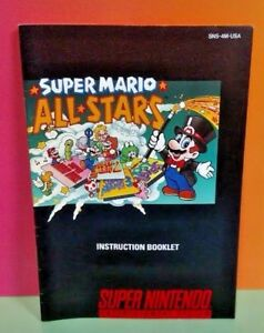 Super-Mario-All-Stars-SNES-Super-Nintendo-Instruction-MANUAL-ONLY-No-Game