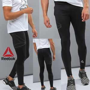Details about Reebok Mens Tight Black Pants Crossfit Compression Leggings Black CY4702 SIZE XL