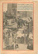 Fêtes Millénaire Normandie Coutances Drakar Costumes Médiéval 1933