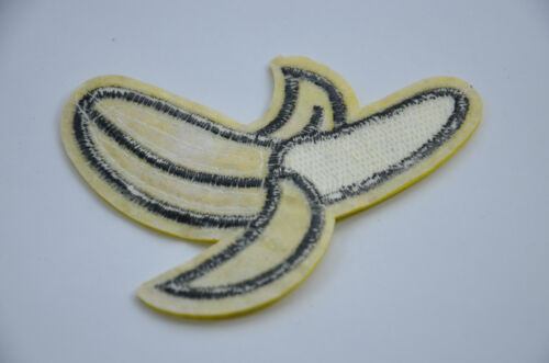 BANANA FRUIT   3 1//2/' 8cm SEQUIN Embroidered Sew On Patch Badge Applique Trim