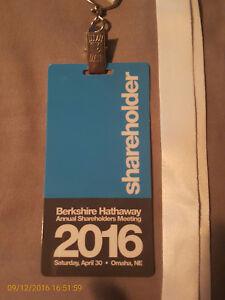 2019 Berkshire Hathaway Annual Shareholders Meeting Credential Ticket Buffett