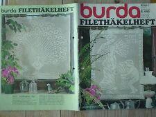 Burda häkeln Filethäkelheft E 446 Sonderheft 16/79 70er J komplett nostalgisch