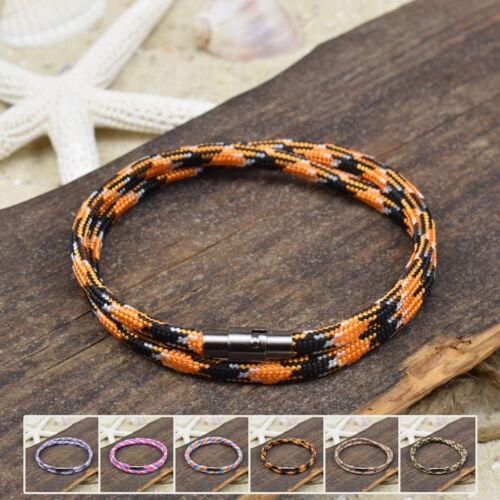 ❦ Armband SABRI Paracord Segeltau 4 mm Magnetverschluß Farbe /& Größe wählbar ❦