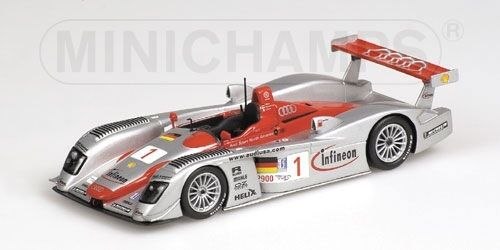 AUDI r8 Sebring 2002 Biela Pirro Kristensen 1 43 MODEL MINICHAMPS