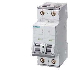 2x SIEMENS C10 5SY6210-7 Reja de desminado 2 polos circuito de protección 400V 10A Free UK Post