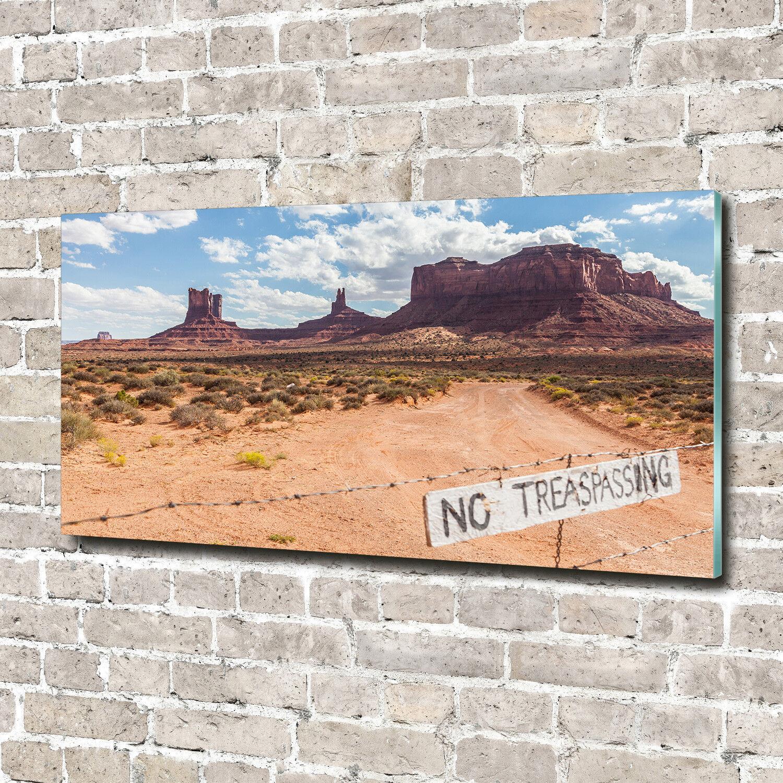 Cuadros de pa rojo  de 70 pantalla de cristal impresión sobre vidrio 140 x 70 de decorativos paisajes de Arizona Estados Unidos 091a89