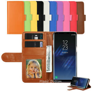 Samsung-Galaxy-S9-S8-Plus-S7-edge-Wallet-PU-Leather-Flip-Case-Card-Cover