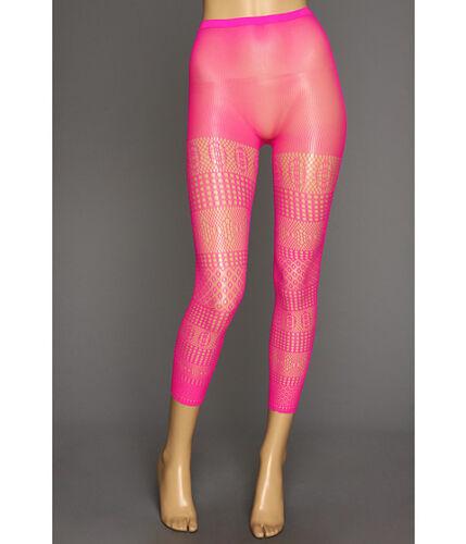 HUE U13648 Plastic Pink Openwork Medley Footless Tights MSRP $18