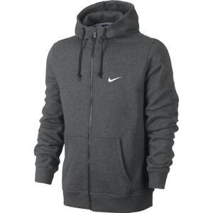 ec0f6f29f70d Nike Men s Sportswear Club Fleece Full Zip Charcoal Hoodie (823531 ...