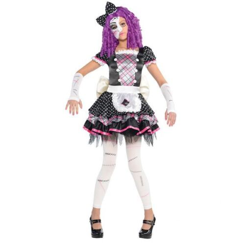 Childrens Girls Damaged Doll Halloween Party Costume Fancy Dress 8-10 Years