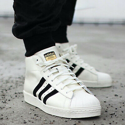 New ADIDAS Originals Pro Model Leather Athletic Sneaker Mens white ...