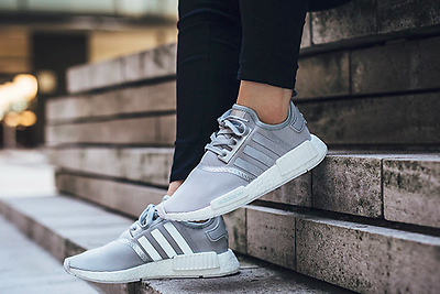 Adidas Originals NMD_R1 S76004 Sneaker in grau* wei?* silber