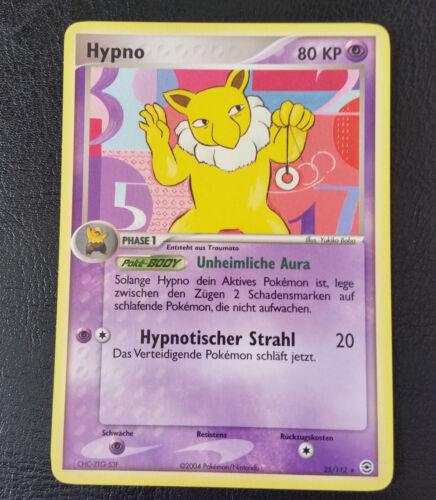 Pokemon Hypno EX Feuerrot /& Blattgrün 25//112 Karte ist unbespielt Deutsch
