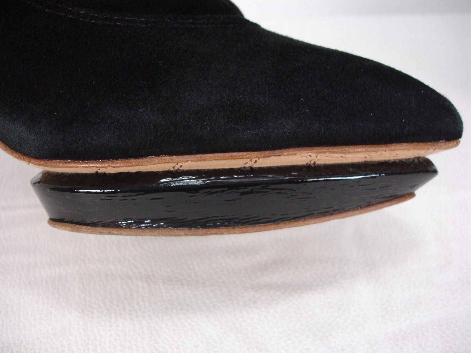 L.A.M.B. GWEN STEFANI BLACK SUEDE Schuhe PATENT PLATFORM PUMPS BOOTIE Schuhe SUEDE WOMEN'S 8 M 1fff9d