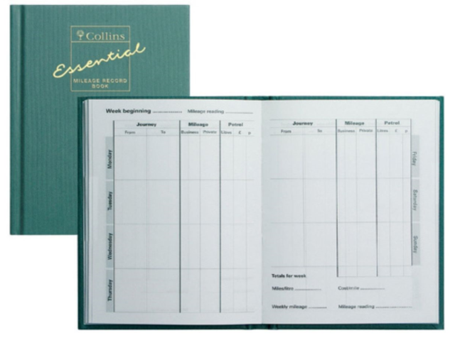 collins mrb1 essentials mileage record book green ebay