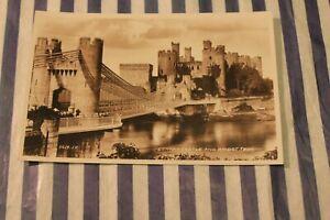 Conway Castle and Bridge, Valentines. RP 56119.JV