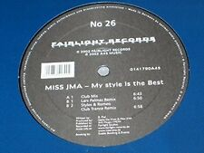 "Miss JMA My style is the best (Club Mix/Lars Palmas/Styles & Romeo .. [Maxi 12""]"