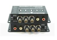 Component Bnc Video + Stereo Analog Audio Booster Extender Amplifier Sb-2819
